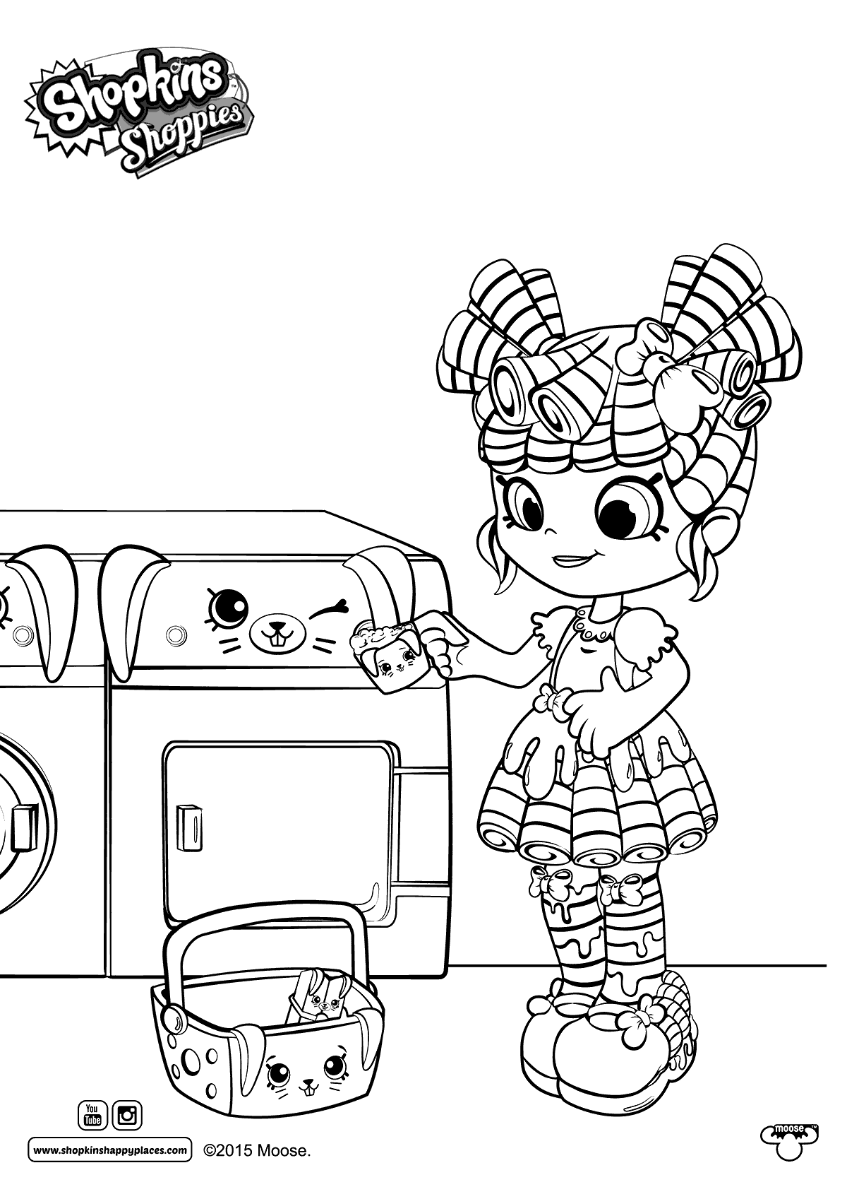 Free Cute Happy Places Shoppies Coloring Pages printable