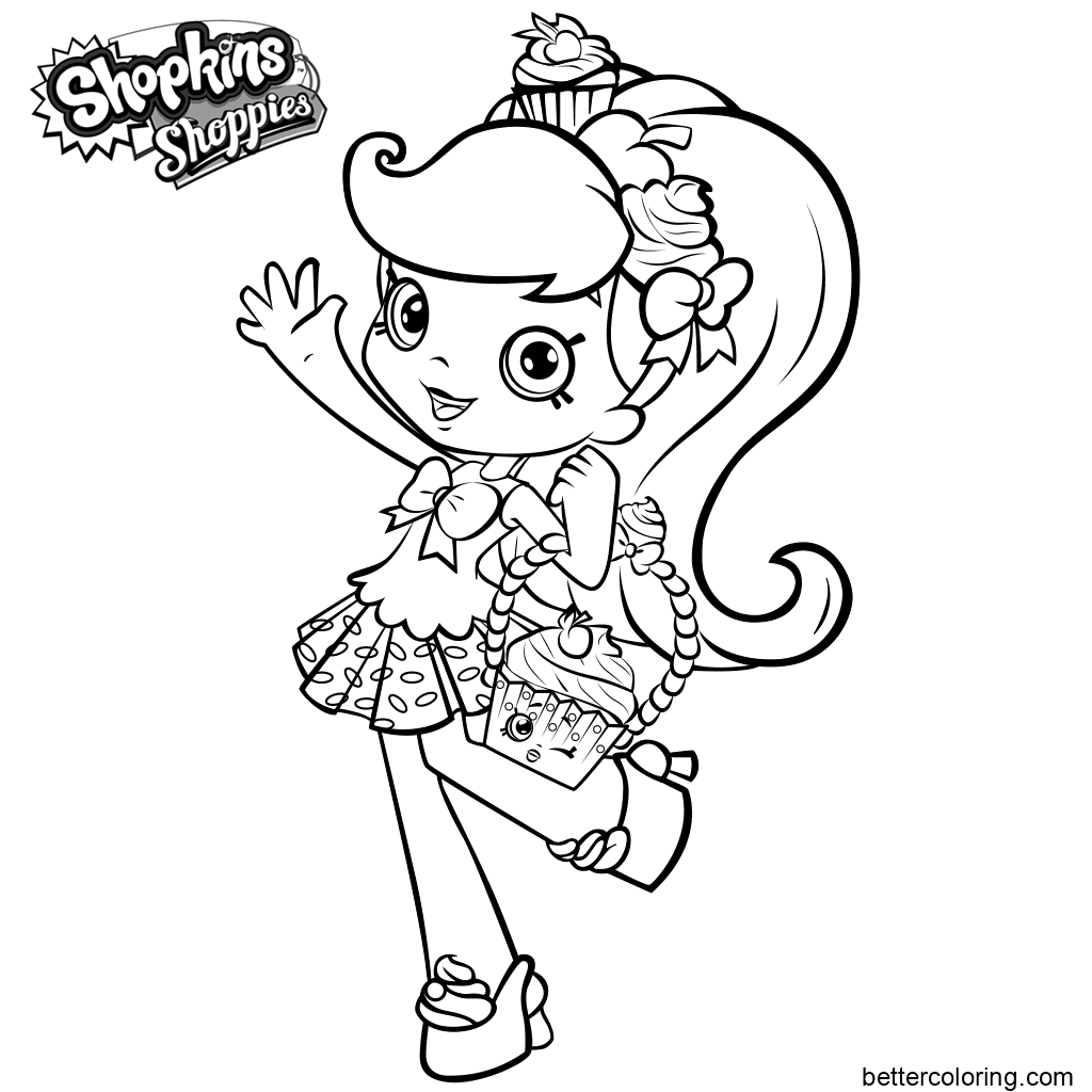 Free Cute Shoppies Coloring Pages printable