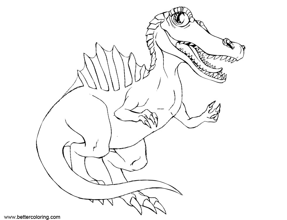 Free Cute Spinosaurus Coloring Pages printable