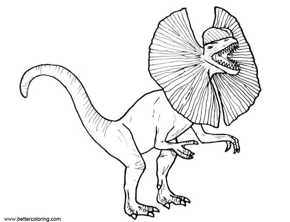 Dilophosaure From Jurassic World Fallen Kingdom Coloring Pages