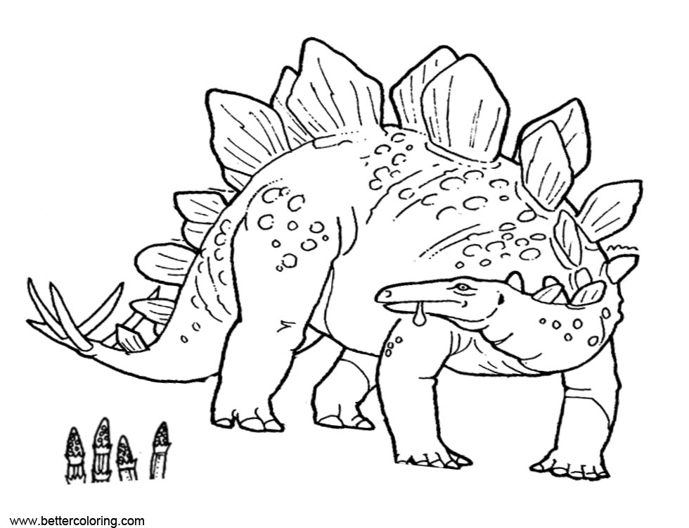 Free Dinosaurs from Jurassic World Fallen Kingdom Coloring Pages printable