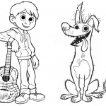 Disney Movie Coco Coloring Pages Characters Miguel And Skeleton