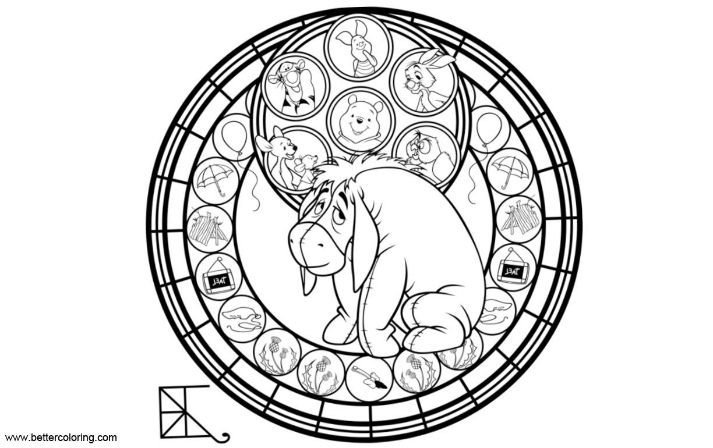 Free Eeyore Coloring Pages Circle Pattern by Shlyki84 printable
