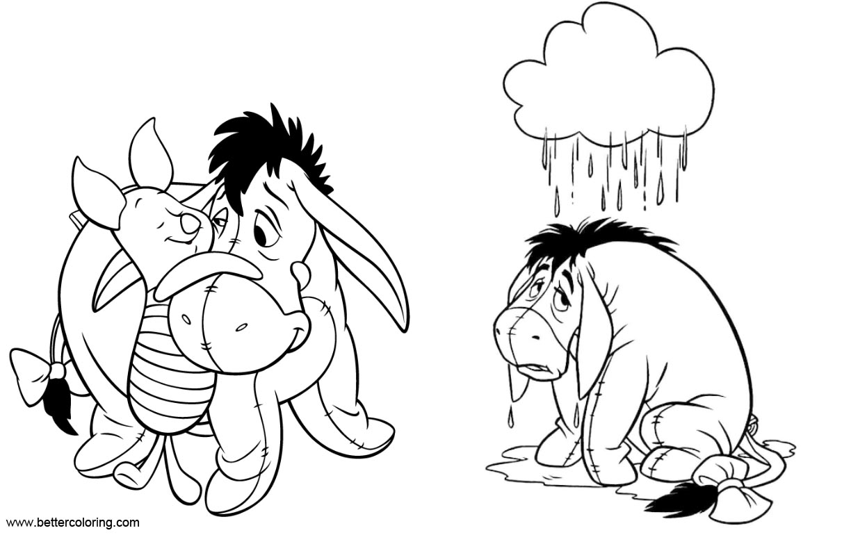 Eeyore Coloring Pages from Winnie the Pooh - Free Printable Coloring ...