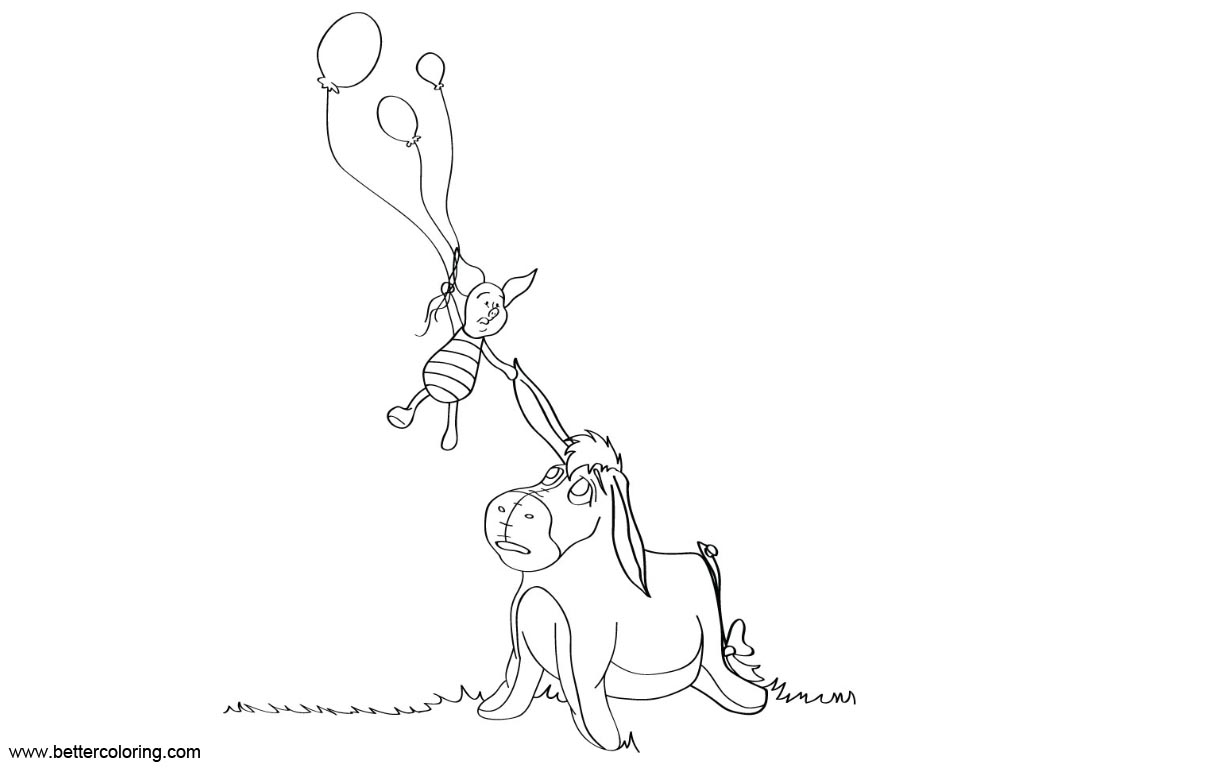 Eeyore Coloring Pages with Piglet by Katherdante - Free Printable ...