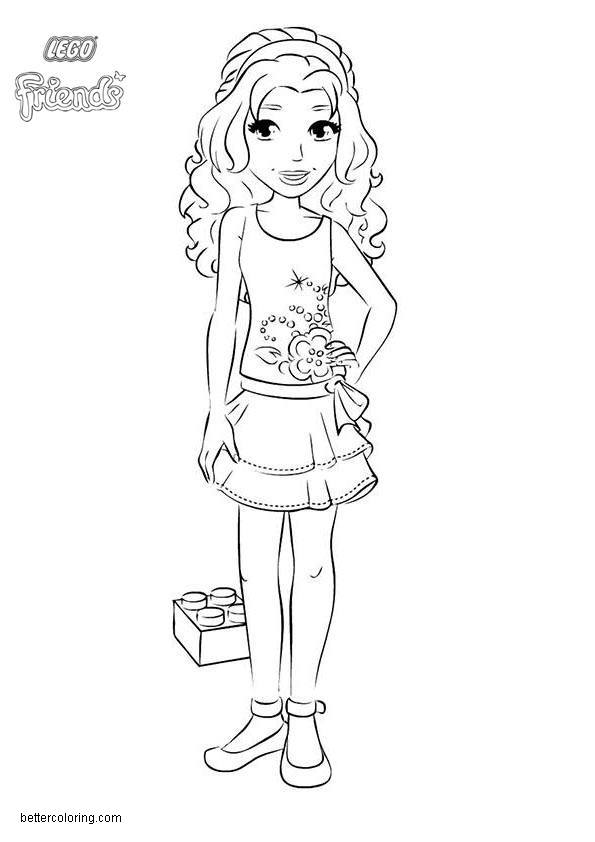 Emma from lego friends coloring pages free printable for Lego friends coloring pages to print