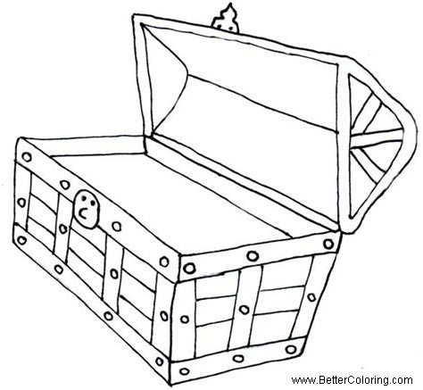 Free Empty Treasure Chest Coloring Pages printable
