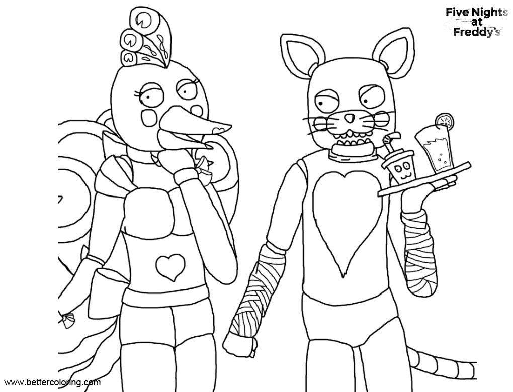 photograph relating to Fnaf Printable Coloring Pages named FNAF Coloring Webpages Animatronics Toy by way of XzylaX - Absolutely free
