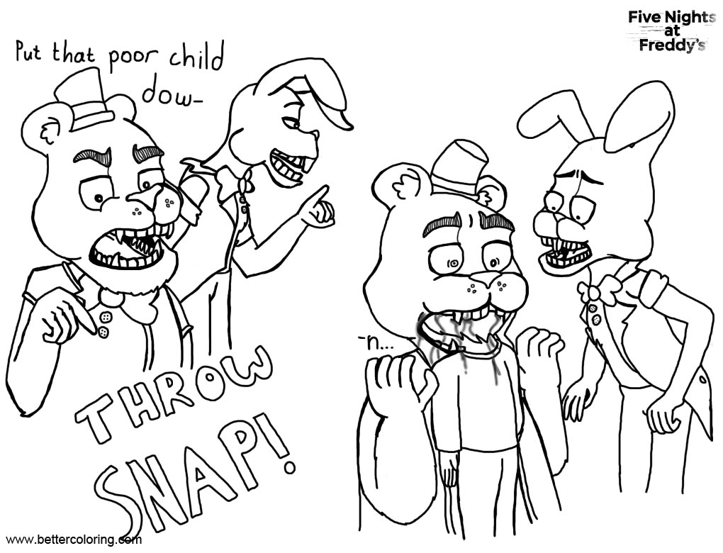 Free FNAF Coloring Pages Bite Of 87 Or 83 Drawing ErinG30 printable