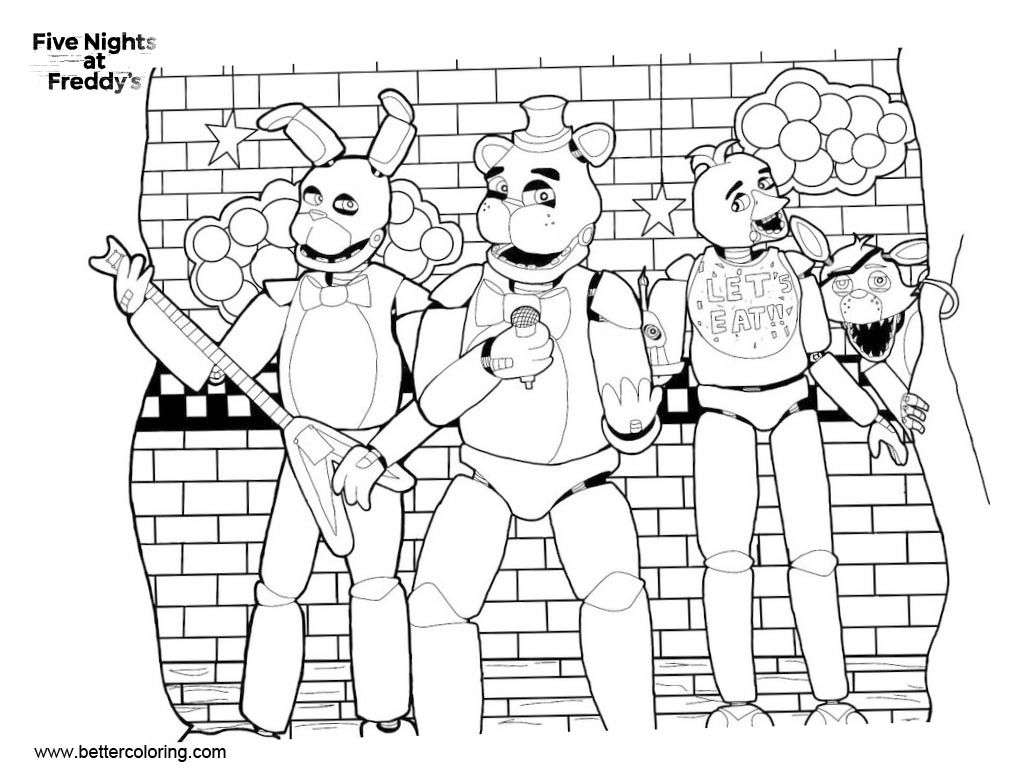 Free FNAF Coloring Pages Fanart by Transformersgirl1234 printable