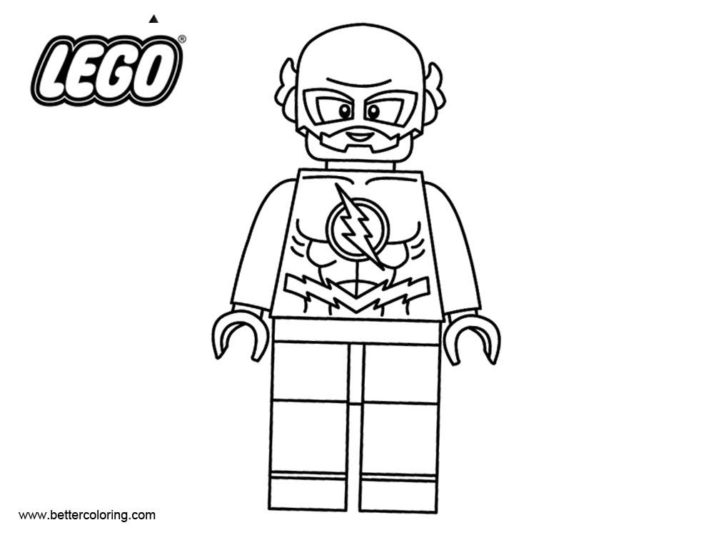 Free Flash from LEGO Superhero Coloring Pages printable