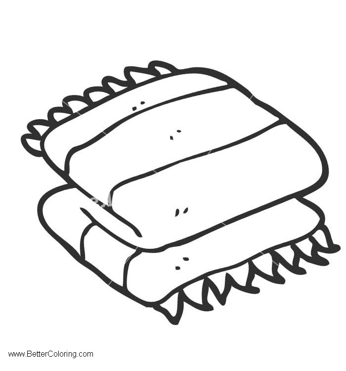 Free Folded Beach Towel Clipart Coloring printable