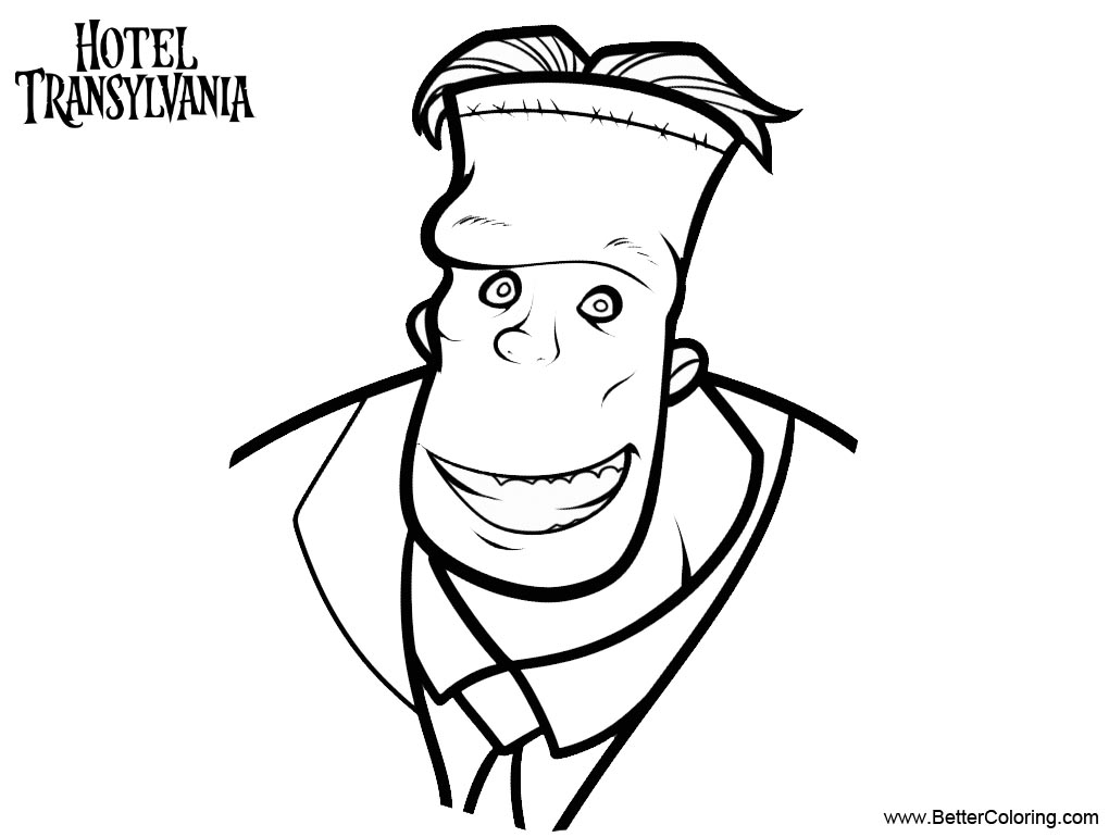 Free Frank from Hotel Transylvania Coloring Pages printable