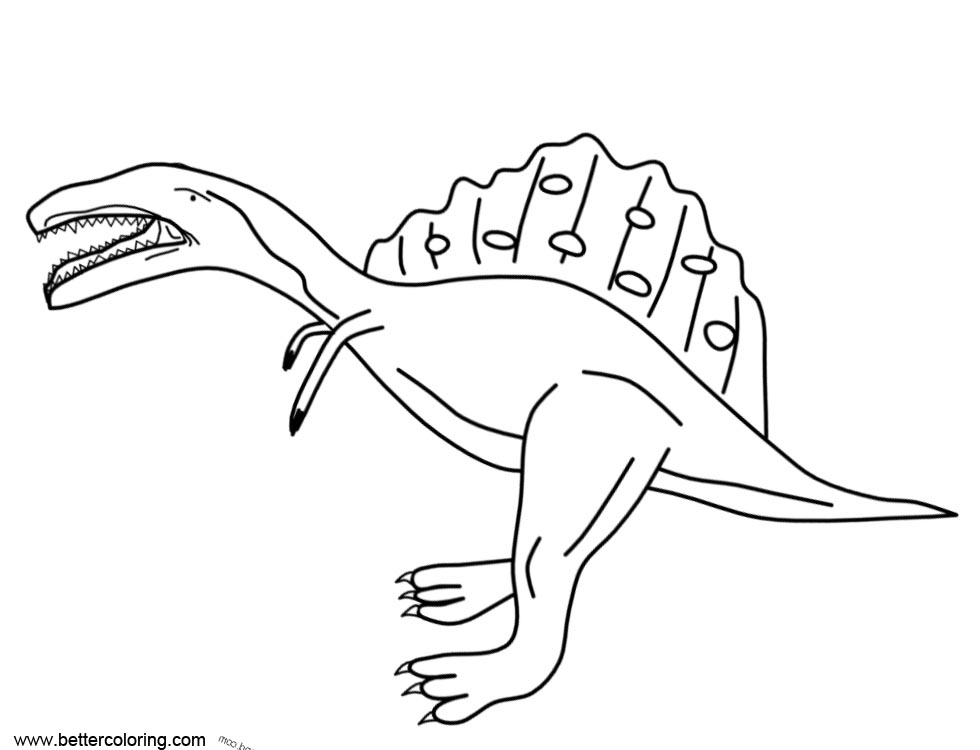 Funny Spinosaurus Coloring Pages - Free Printable Coloring Pages
