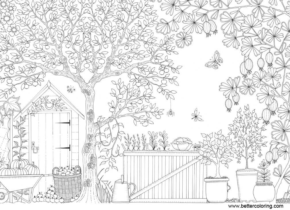Free Garden Coloring Pages for Adults printable