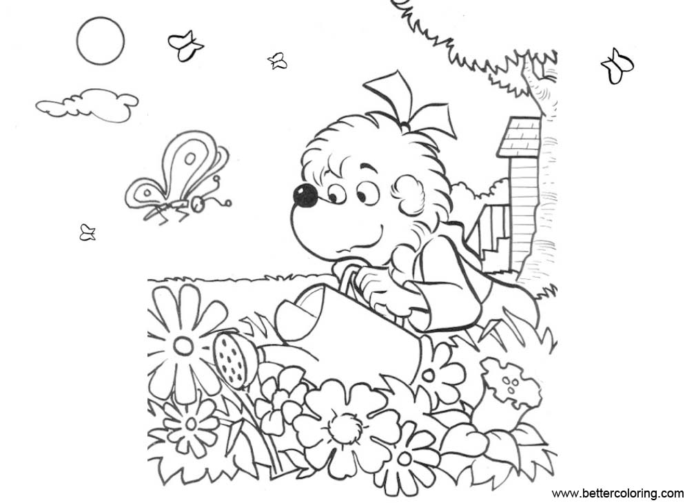Free Garden Coloring Pages from Berenstain Bears printable
