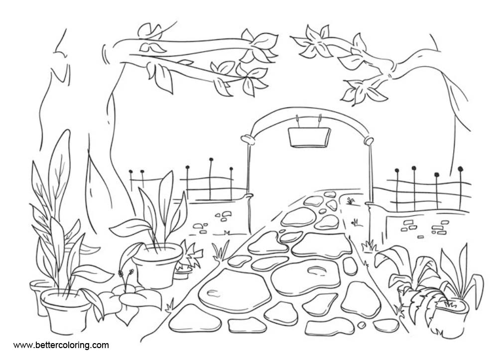Free Garden Coloring Pages printable