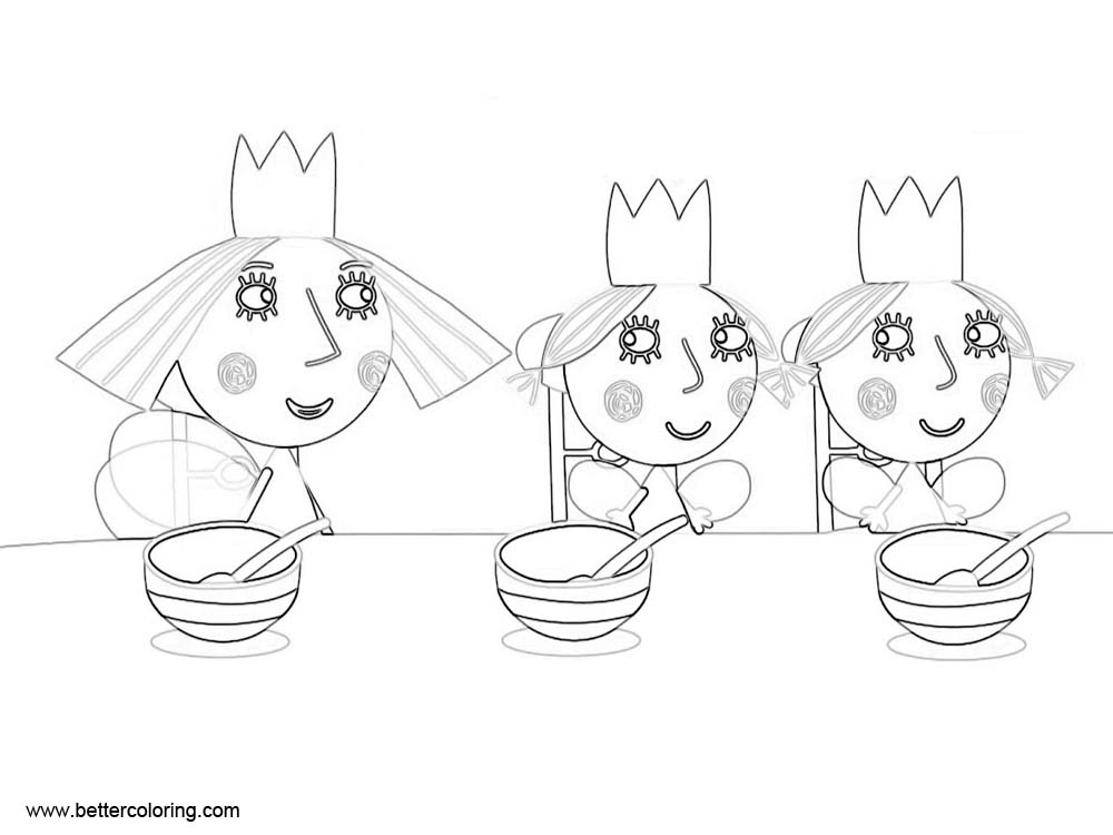 Free Girls from Ben And Holly Coloring Pages printable