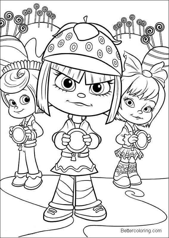 Free Girls from Wreck It Ralph Coloring Pages printable