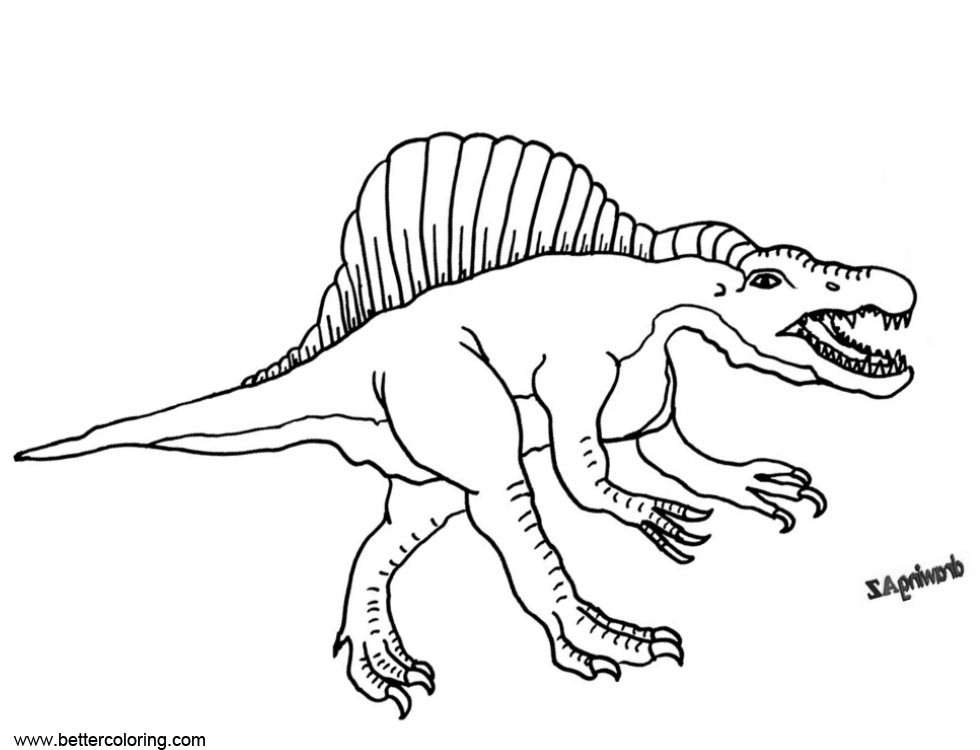Free Great Spinosaurus Coloring Pages printable