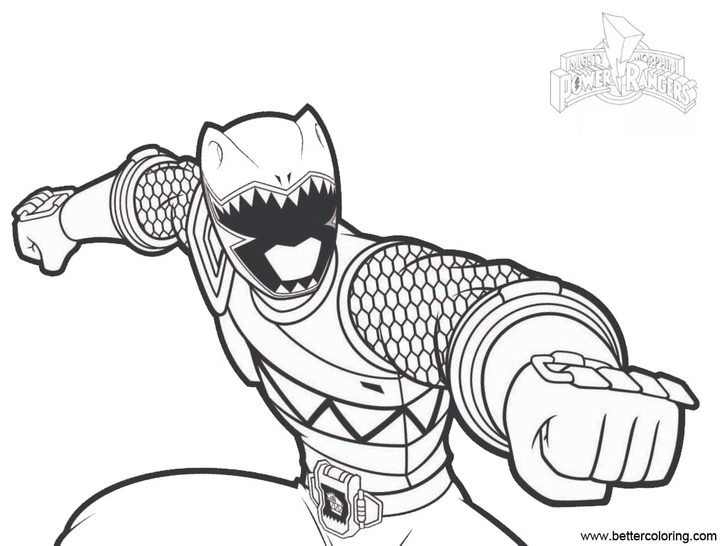 Free Green Ranger from Mighty Morphin Power Rangers Coloring Pages printable