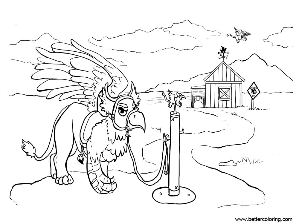 Free Griffin Coloring Pages Griffin Farms by painted flamingo printable