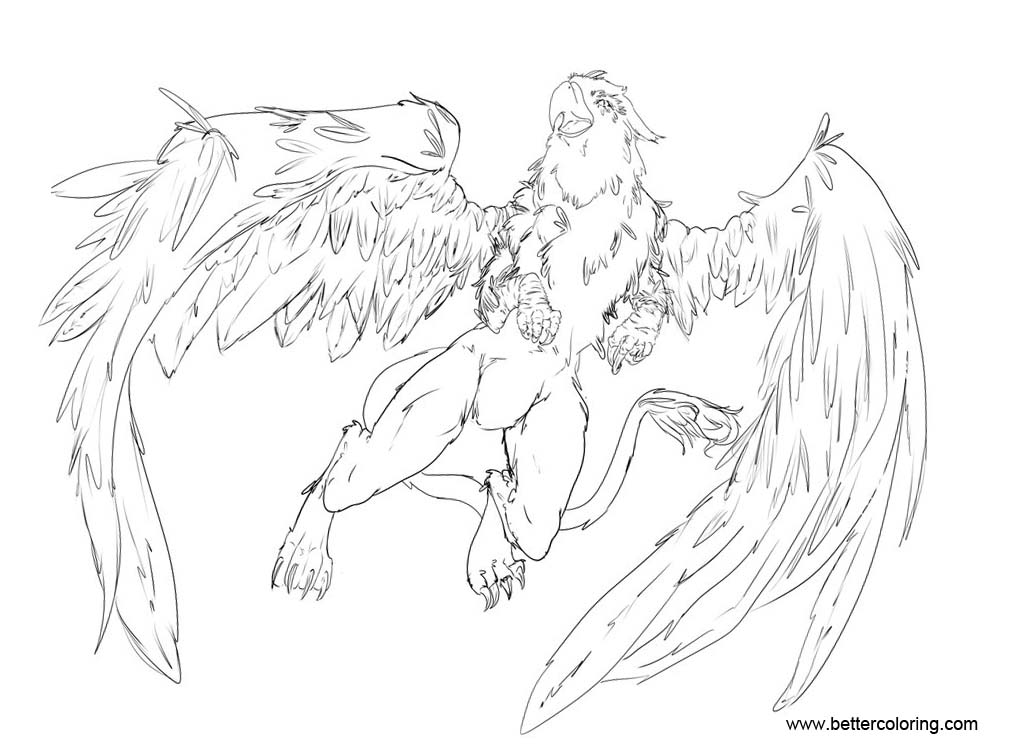free griffon coloring pages | Griffin Coloring Pages