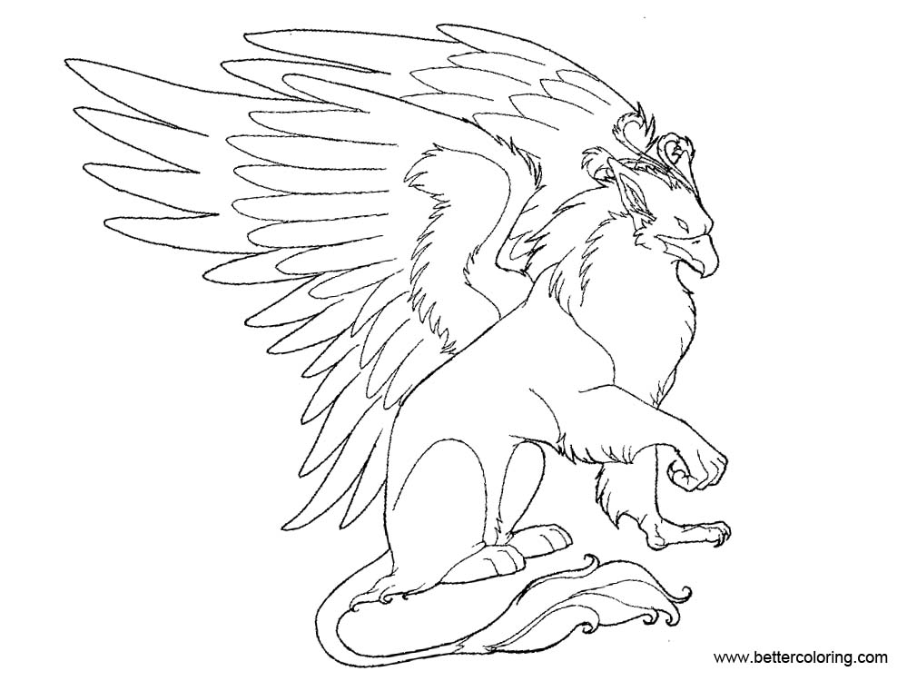 Free Griffin Coloring Pages by hibbary printable
