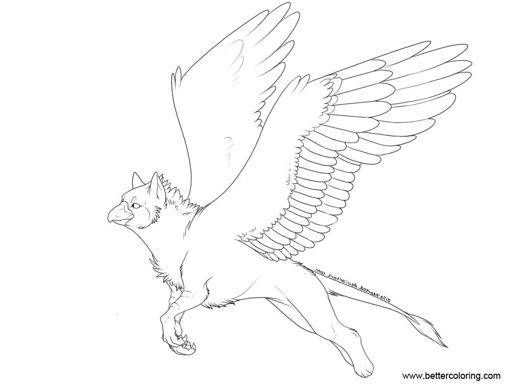 Free Griffin Coloring Pages by zillastar printable