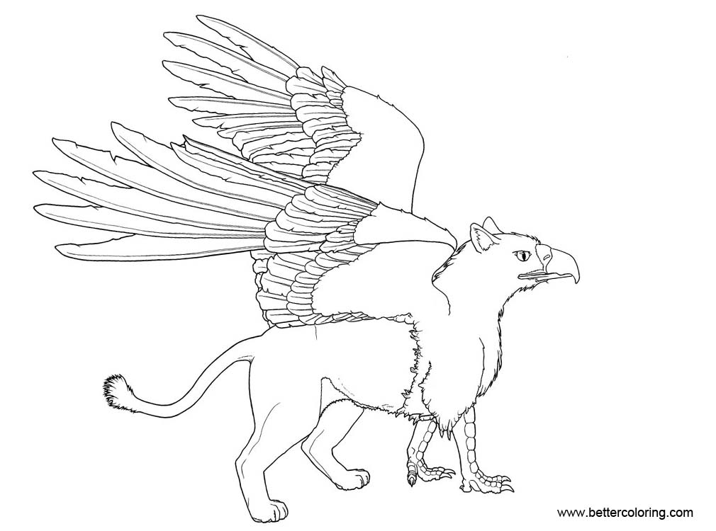 Free Griffin Coloring Pages printable