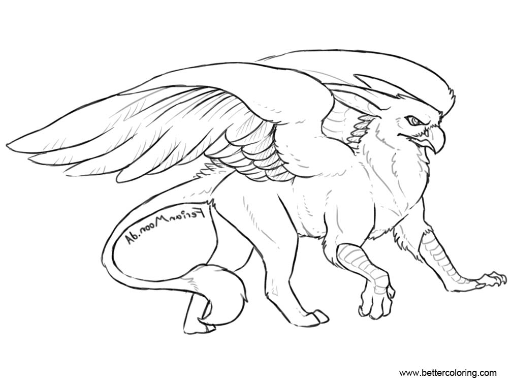 Gryphon Griffin Coloring Pages - Free Printable Coloring Pages