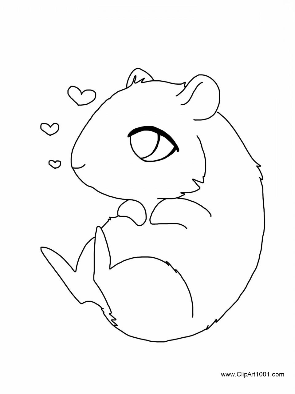 Guinea Pig Coloring Pages by Styx