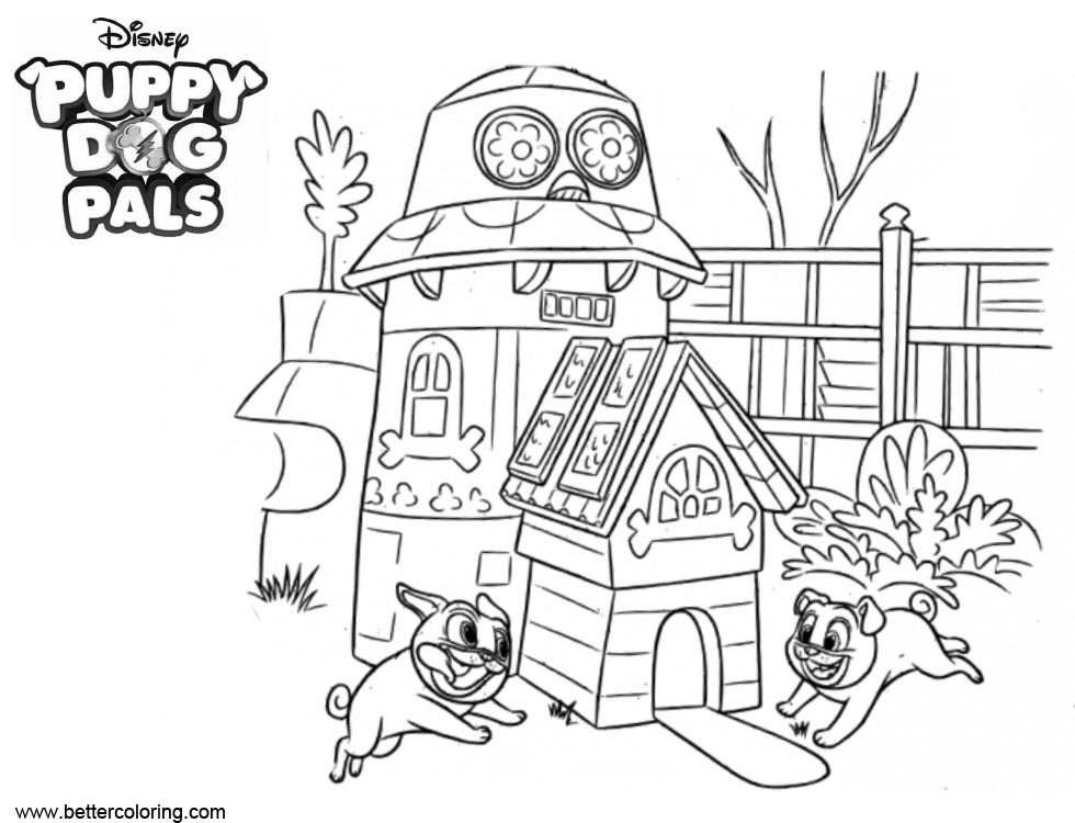 Free Happy Puppy Dog Pals Coloring Pages printable
