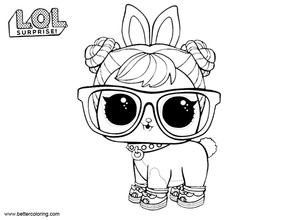 Free Hop Hop from LOL Surprise Pets Coloring Pages printable