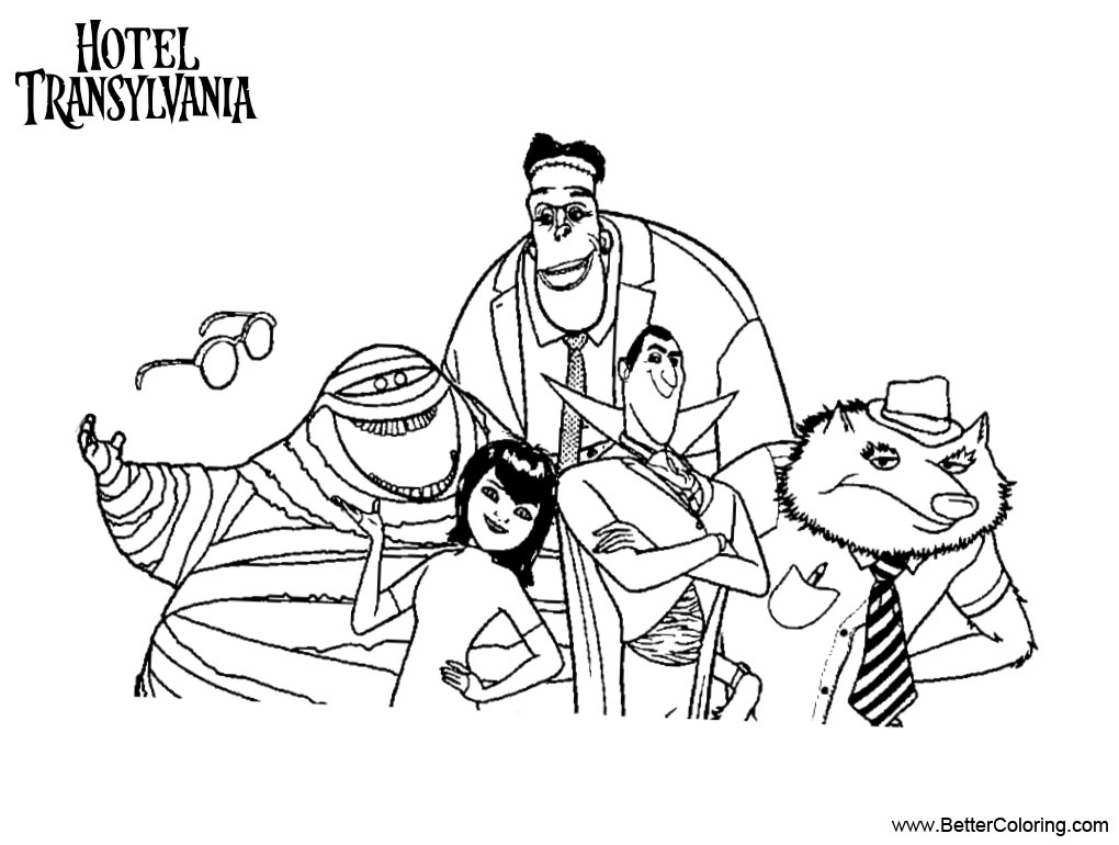 Hotel Transylvania Characters Coloring Pages - Free ...