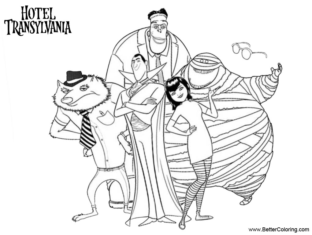 transylvania coloring pages | Hotel Transylvania Coloring Pages Characters - Free ...