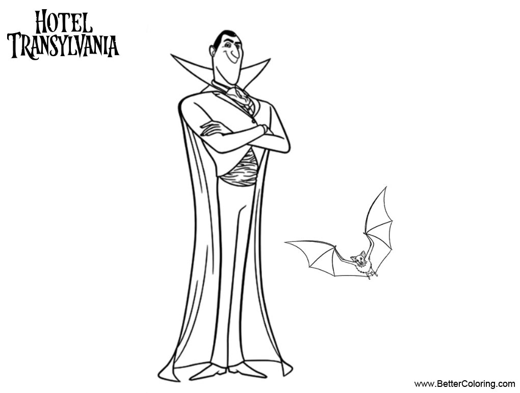 Free Hotel Transylvania Coloring Pages Vampire Mr Dracula printable