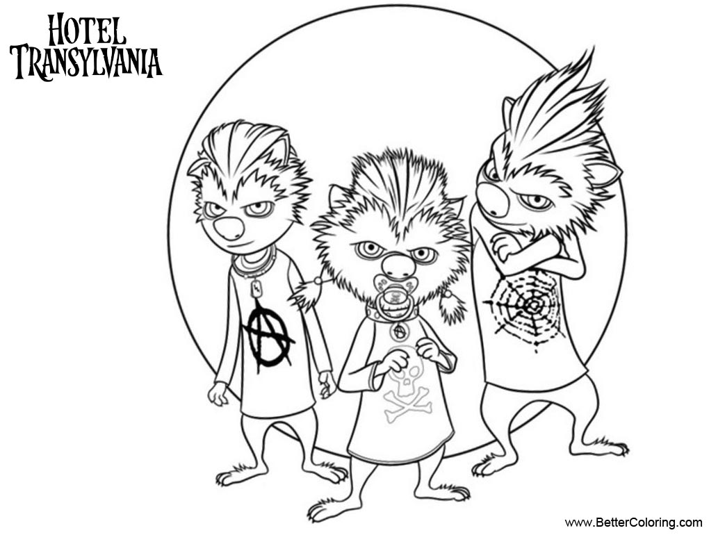 Free Hotel Transylvania Coloring Pages Werewolf Kids printable