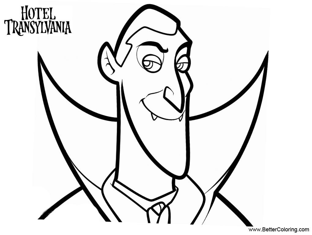 Dracula coloring page