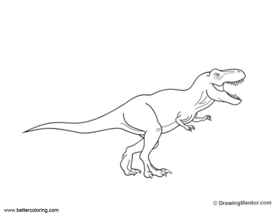 how to draw jurassic world fallen kingdom coloring pages free