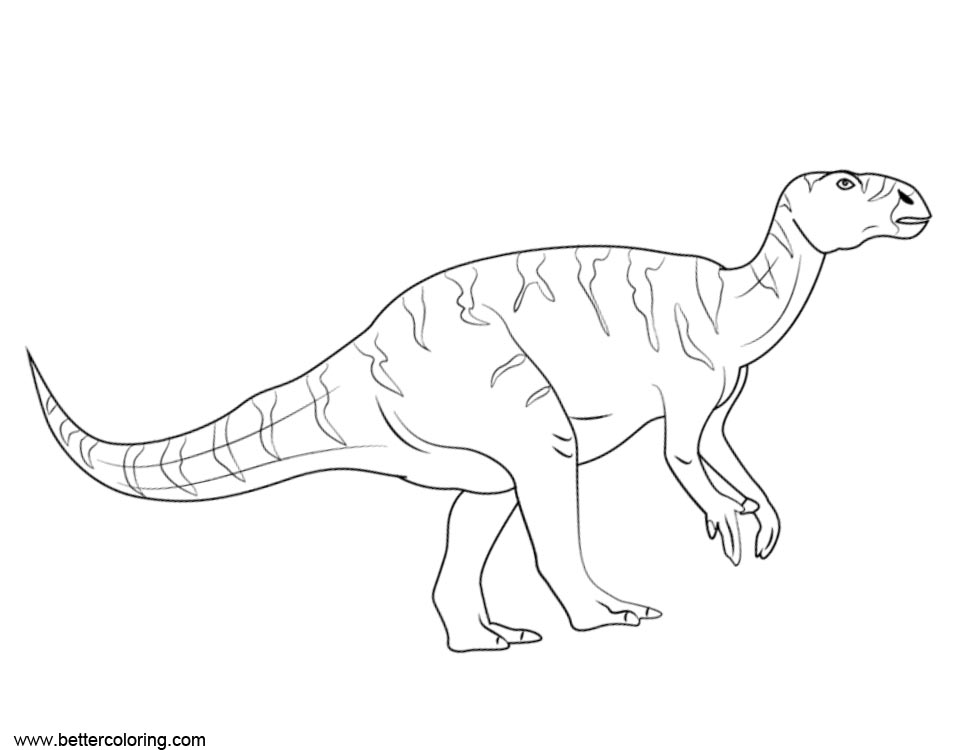 Iguanodon from Jurassic World Fallen Kingdom Coloring Pages - Free ...