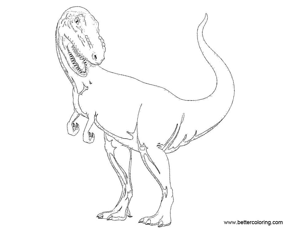Free Indominus Rex from Jurassic World Coloring Pages printable