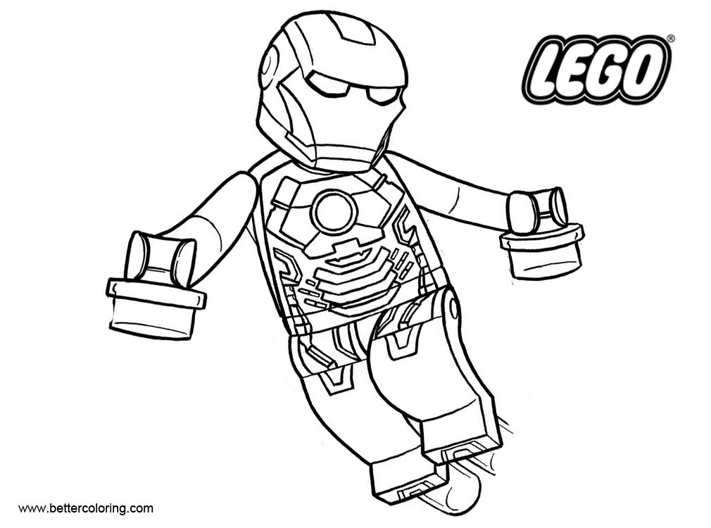 Iron Man from LEGO Superhero Coloring Pages - Free Printable ...