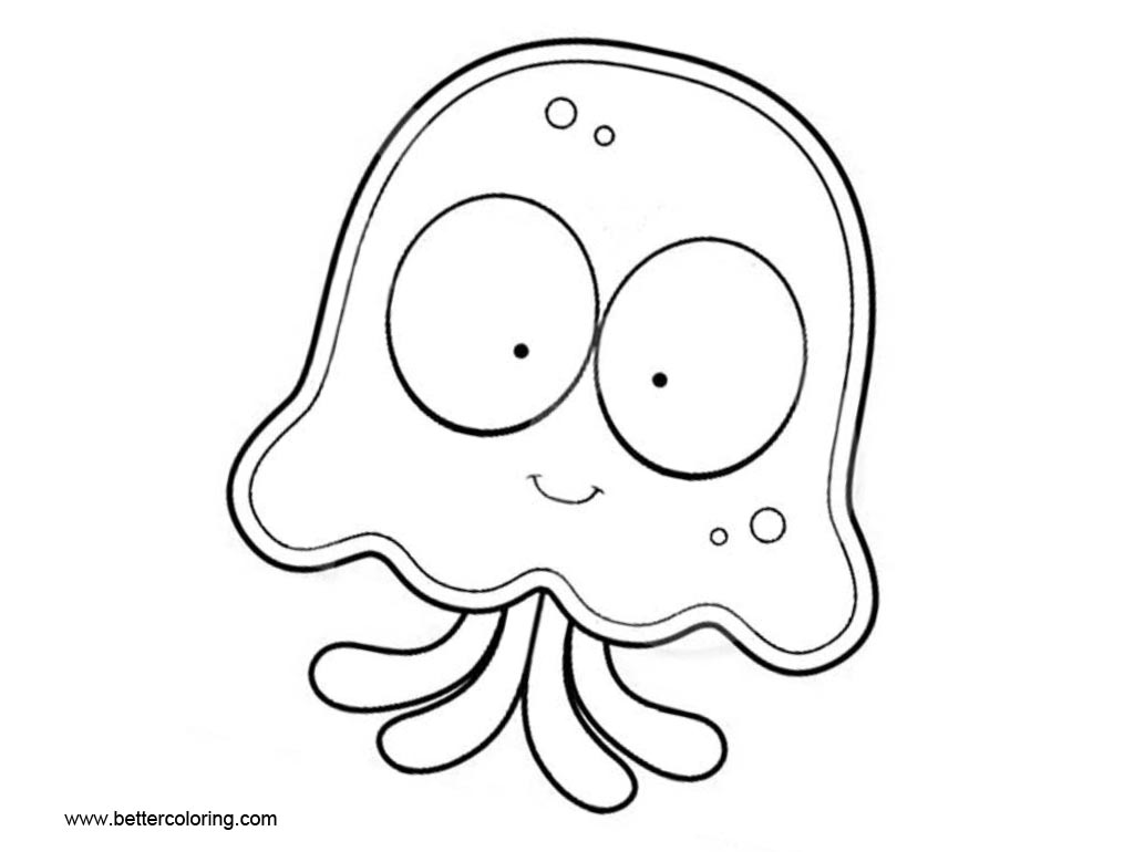 Jellyfish Coloring Pages Cartoon