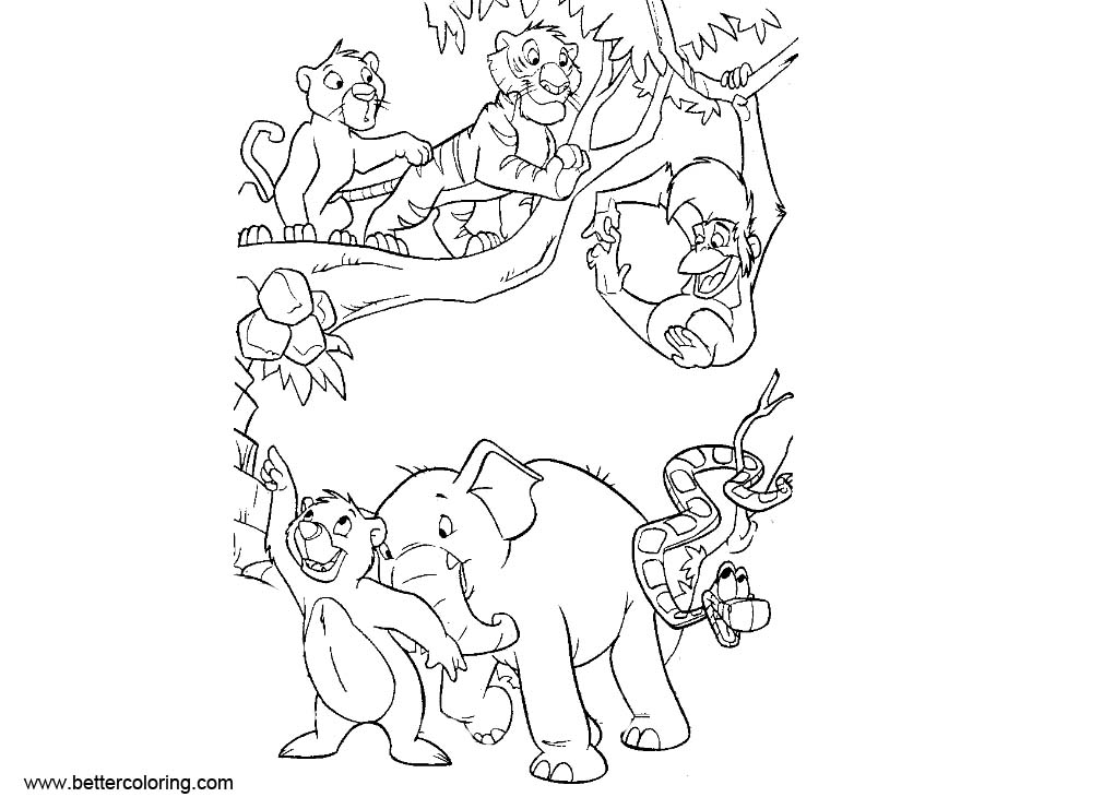 jungle coloring pages to print - photo#31