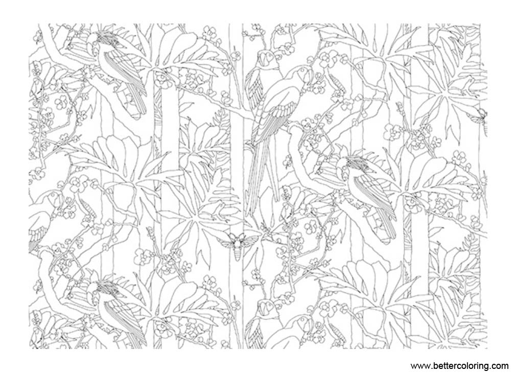 Free Jungle Coloring Pages Birds printable