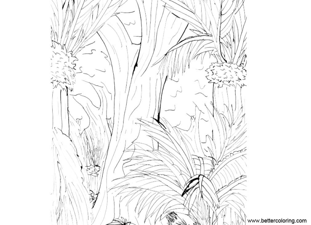 Jungle Coloring Pages Plants Free Printable Coloring Pages