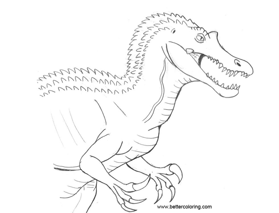 Free Jurassic World Coloring Pages Baryonyx by TyrannoNinja printable