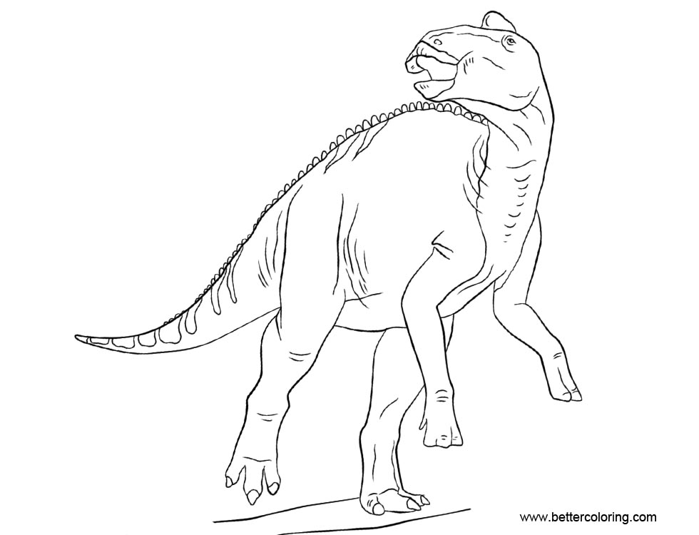 Free Jurassic World Coloring Pages Edmontosaurus printable