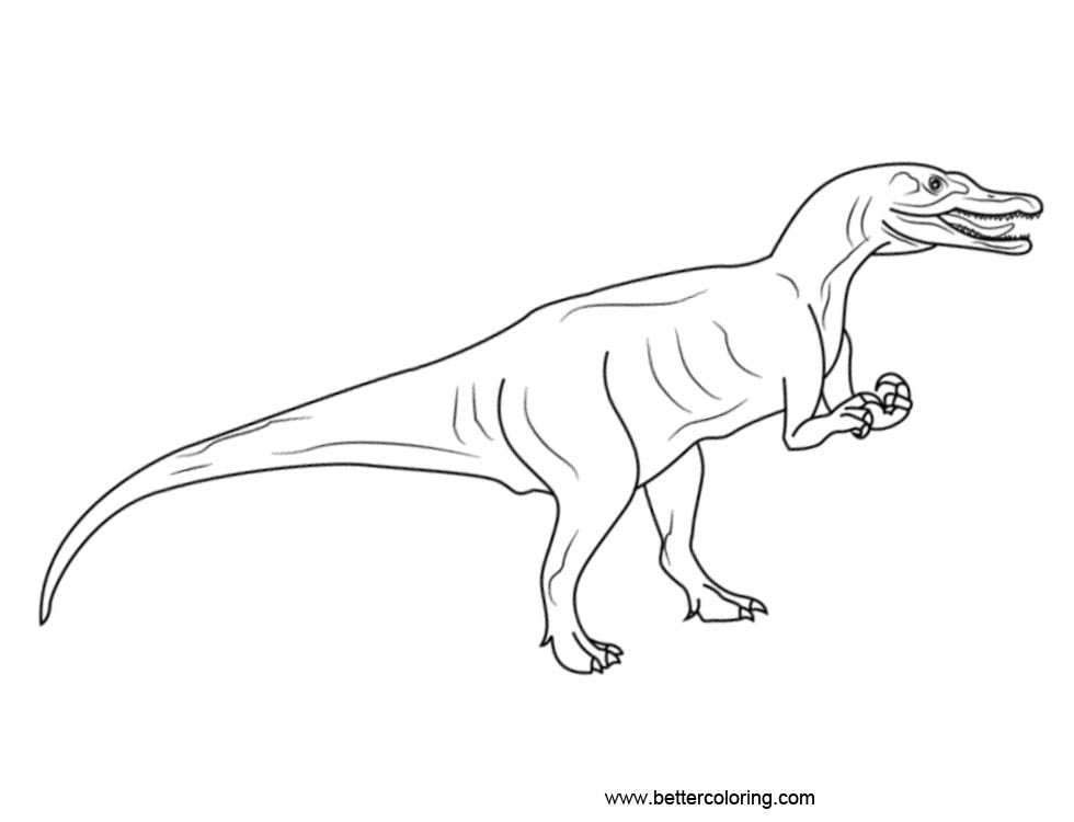Free Jurassic World Coloring Pages Line Drawings printable